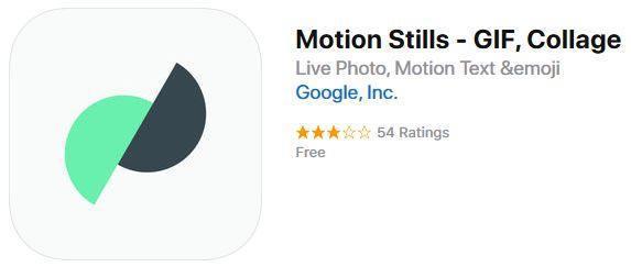 Motion Stills - Useful iPhone Apps