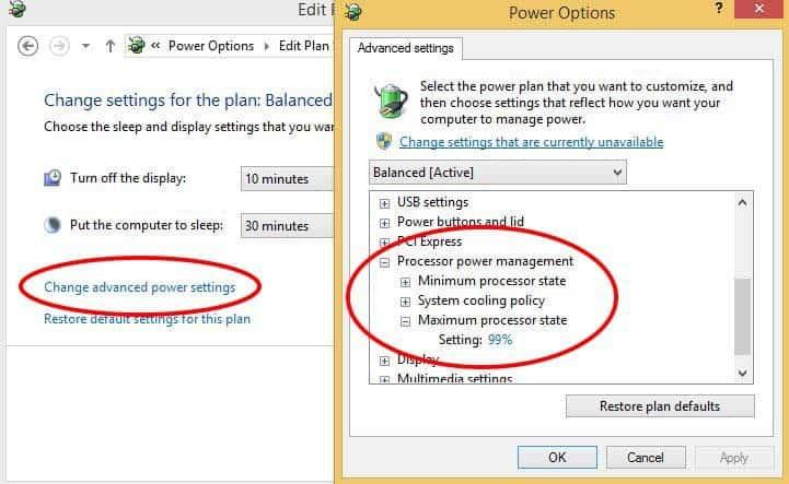 Windows Power Management Options